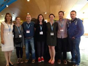 Irish Primary Teacher group at ESA Catherine Swords, Fionula Murphy, Richie Daly, Naoimh Riordan, Carla Hayes, Padraig Patten, Padraig Egan